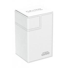 [ULT]Ultimate Guard Flip´n´Tray Deck Case 80+ Caja de Cartas Tamaño Estándar XenoSkin Blanco