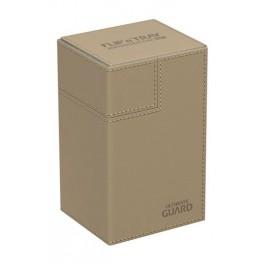 [ULT]Ultimate Guard Flip´n´Tray Deck Case 80+ Caja de Cartas Tamaño Estándar XenoSkin Beige
