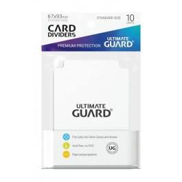 [ULT]Ultimate Guard Card Dividers Tarjetas Separadoras para Cartas Tamaño Estándar Blanco (10)