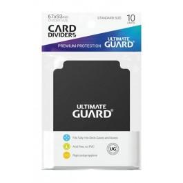 [ULT]Ultimate Guard Card Dividers Tarjetas Separadoras para Cartas Tamaño Estándar Negro (10)