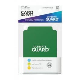 [ULT]Ultimate Guard Card Dividers Tarjetas Separadoras para Cartas Tamaño Estándar Verde (10)