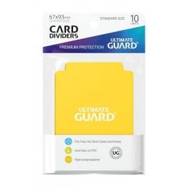 [ULT]Ultimate Guard Card Dividers Tarjetas Separadoras para Cartas Tamaño Estándar Amarillo (10)
