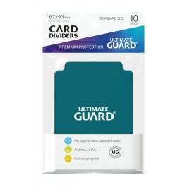 [ULT]Ultimate Guard Card Dividers Tarjetas Separadoras para Cartas Tamaño Estándar Gasolina Azul (10)