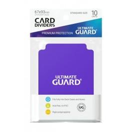 [ULT]Ultimate Guard Card Dividers Tarjetas Separadoras para Cartas Tamaño Estándar Violeta (10)