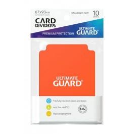 [ULT]Ultimate Guard Card Dividers Tarjetas Separadoras para Cartas Tamaño Estándar Naranja (10)
