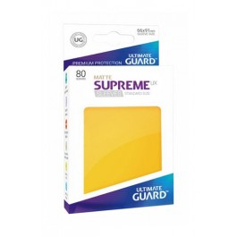 [ULT] Ultimate Guard Supreme UX Sleeves Fundas de Cartas Tamaño Estándar Amarillo Mate (80)