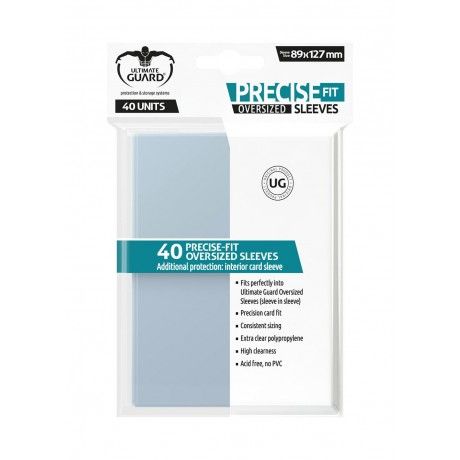 [ULT]Ultimate Guard Classic Soft Sleeves Fundas de Cartas Tamaño Estándar Transparente (100)