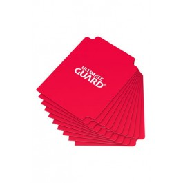 [ULT] Ultimate Guard Card Dividers Tarjetas Separadoras para Cartas Tamaño Estándar Rojo (10)