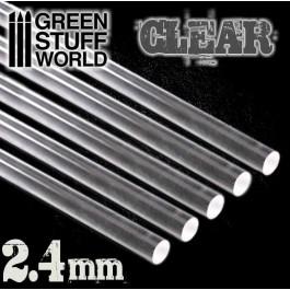 [AGS] Barras Acrilicas - Redondas 2,4 mm TRANSPARENTES
