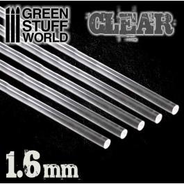 [AGS] Barras Acrilicas - Redondas 1,6 mm TRANSPARENTES