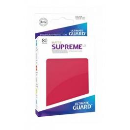 [ULT]Ultimate Guard Supreme UX Sleeves Fundas de Cartas Tamaño Estándar Rojo Mate (80)