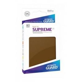 [ULT]Ultimate Guard Supreme UX Sleeves Fundas de Cartas Tamaño Estándar Marrón Mate (80)