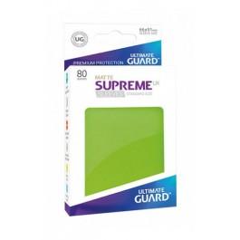 [ULT]Ultimate Guard Supreme UX Sleeves Fundas de Cartas Tamaño Estándar Verde Claro Mate (80)