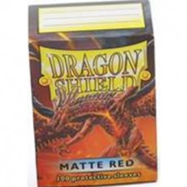 Dragon Shield Standard Sleeves - Matte Red (100 Fundas)