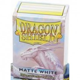 [JDC] Dragon Shield Standard Sleeves - Matte White (100 Fundas)